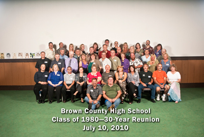 Brown County High School Class of 1980, 30-Year Reunion